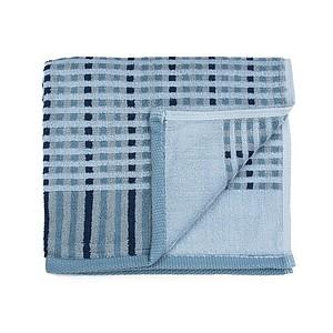 AUTUMN Set luxusních ručníků se zdobeným vetkáváním 60x110 a 30x50 cm, 600g, modrá