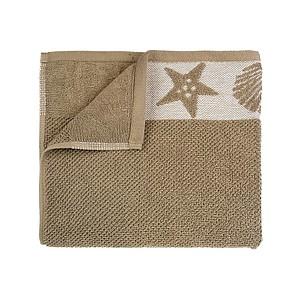 SUMMER Set luxusních ručníků se zdobenou bordurou 60x110 a 30x50 cm, 600 g, hnědá ručníky s potiskem
