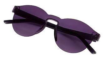 Celobarevné sluneční brýle s tónovanými skly, fialová
