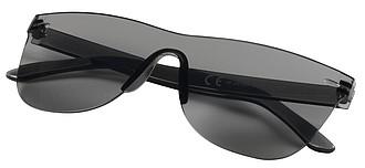 Jednobarevné sluneční brýle bez obrouček, černá