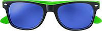 KRALO Plastové sluneční brýle s UV-400 ochranou, kombinace černá/zelená