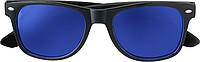KRALO Plastové sluneční brýle s UV-400 ochranou, kombinace černá/modrá