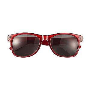 DARUS Akrylové sluneční brýle s UV400ochranou, červená
