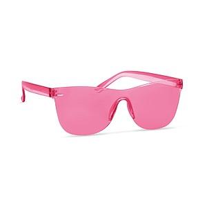 Bezobroučkové sluneční brýle, UV400, červené