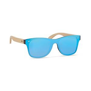 Sluneční brýle, s bambusovými nožičkami, UV400, modré