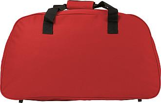 TOGO Sportovní cestovní taška na rameno s reflexními proužky,červená