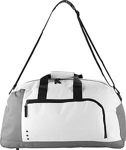 STOKAVA Cestovní taška s vnější kapsou, bílá