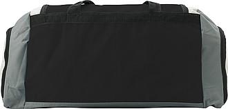 KUVAJT Velká cestovní taška s koncovými kapsami, černá