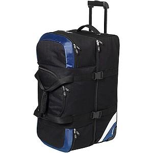 Velká cestovní taška na kolečkách Slazenger, černá/královská modrá - reklamní bundy