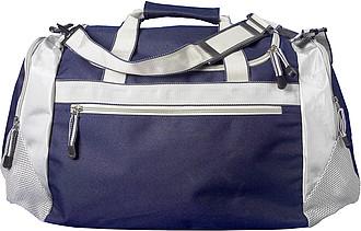 WIMBLEDON Sportovní taška modrá stříbrná
