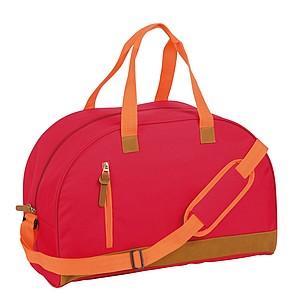 MANDELINA Sportovní taška s hlavní prostornou kapsou, červená