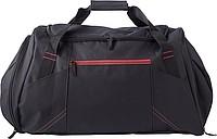TRIKATA Černá cestovní taška s červeným detaily
