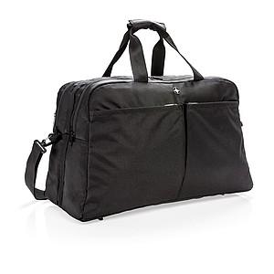 Swiss Peak RFID taška s otevíráním na způsob kufru, černá