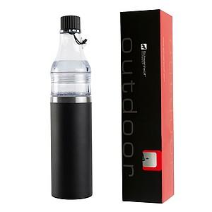 SCHWARZWOLF DOMINIKA termoláhev - set 400+ 200 ml, černá - reklamní trička