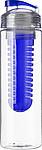 LEDOR Transparentní láhev na pití 650 ml, s modrým sítkem na ovoce