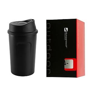 SCHWARZWOLF LIARD termohrnek 360 ml - černý - reklamní čepice