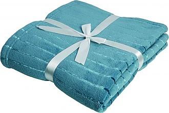 VS PONAPE modrá deka s proužky, coral fleece, 127 x 180 cm - reklamní hrnky
