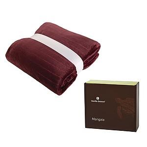 VS MANGAIA vínová deka, 130 × 180 cm, v krabici reklamní zapalovač