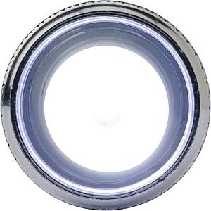 DIAMON Přívěsek na klíče, LED baterka, stříbrno černá