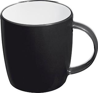 TEGATO Barevný, keramický hrnek o objemu 300 ml, černý - reklamní hrnky
