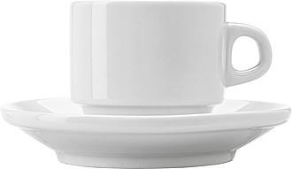 Porcelánový šálek 130 ml s podšálkem - reklamní hrnky
