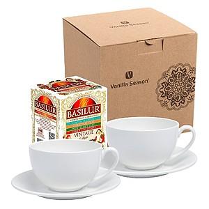 ERBA SET Dárková sada na čaj Vanilla Season - reklamní hrnky