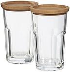 Dvoudílná sada sklenic s táckem Linden.
