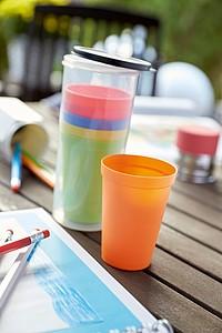 Set 6 barevných plastových kelímků