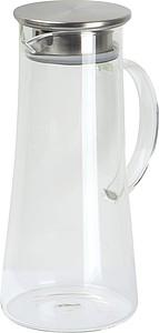ASAMAKA Skleněná karafa s nerezovým víčkem, objem 1,4 l