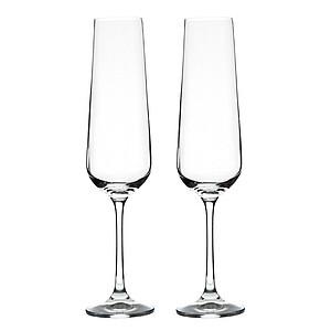VS WANGI dvě sklenice na sekt, české sklo, 200ml