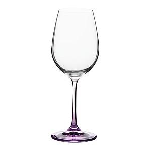 VS NUKUALOFA Sada 6 sklenic na víno (350ml) s barevnými nožkami