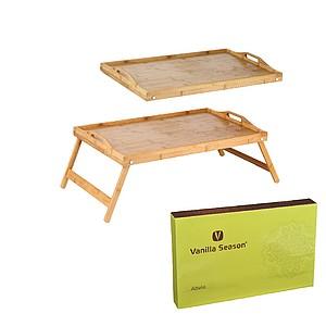 VS ABELA Snídaňový stolek do postele, bambus reklamní zapalovač