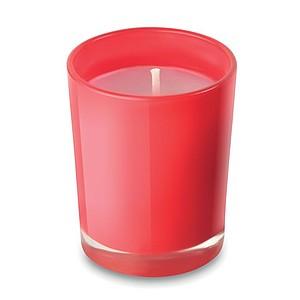 MABO Malá vonná svíčka v barevném skle, červená