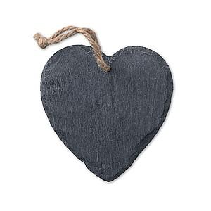 Břidlicový závěs ve tvaru srdce se šňůrkou
