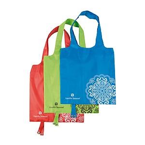 VS BATNA skládací nákupní taška, polyester, červená