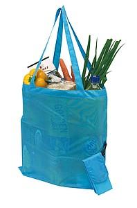 NADINA Skládací nákupní taška s pouzdrem, tyrkysová