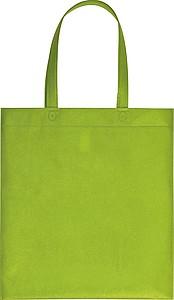 Nákupní taška z netkané textilie, sv. zelená papírová taška s potiskem