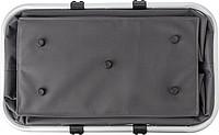 OXFORD BASKET Skládací nákupní košík ze tkaného materiálu typu Oxford, šedý