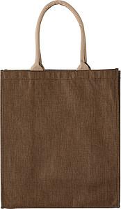 Polyesterová nákupní taška, hnědá papírová taška s potiskem