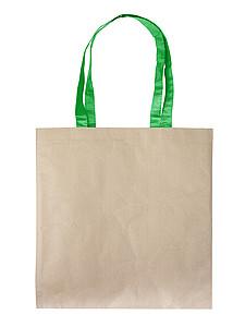 SUDANA Papírová taška z recyklovaného papíru, zelená papírová taška s potiskem