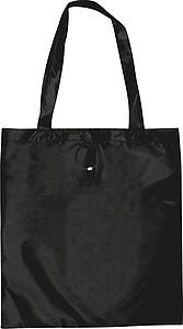 PINAR Skládací nákupní taška z polyesteru, černá papírová taška s potiskem