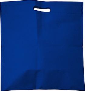 Malá nákupní taška z netkané textilie, modrá papírová taška s potiskem
