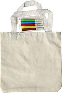 Nákupní taška z bavlny s obrázkem na vymalování