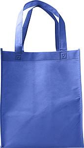Nákupní taška z netkané textilie, modrá papírová taška s potiskem