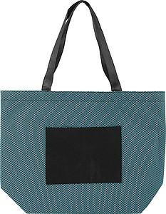 VARADERO Nákupní taška z netkané textilie, modrá papírová taška s potiskem