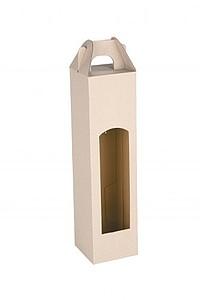 CADDY kartonová krabice na jednu láhev, bílá
