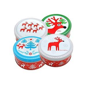 ORADEA Máslové sušenky v plechové dóze s vánočním motivem