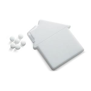 Dávkovač mentolek ve tvaru domu 6g, bílý