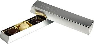 CIHLIČKA Čokoládové pralinky v dárkovém balení, stříbrná