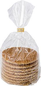 Osm holandských vaflí s karamelovou náplní, v sáčku